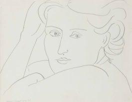 Henri Matisse-Tete de femme-1935