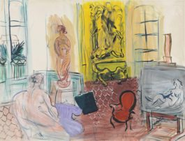 Raoul Dufy-L'atelier de Perpignan, Place Arago-1945