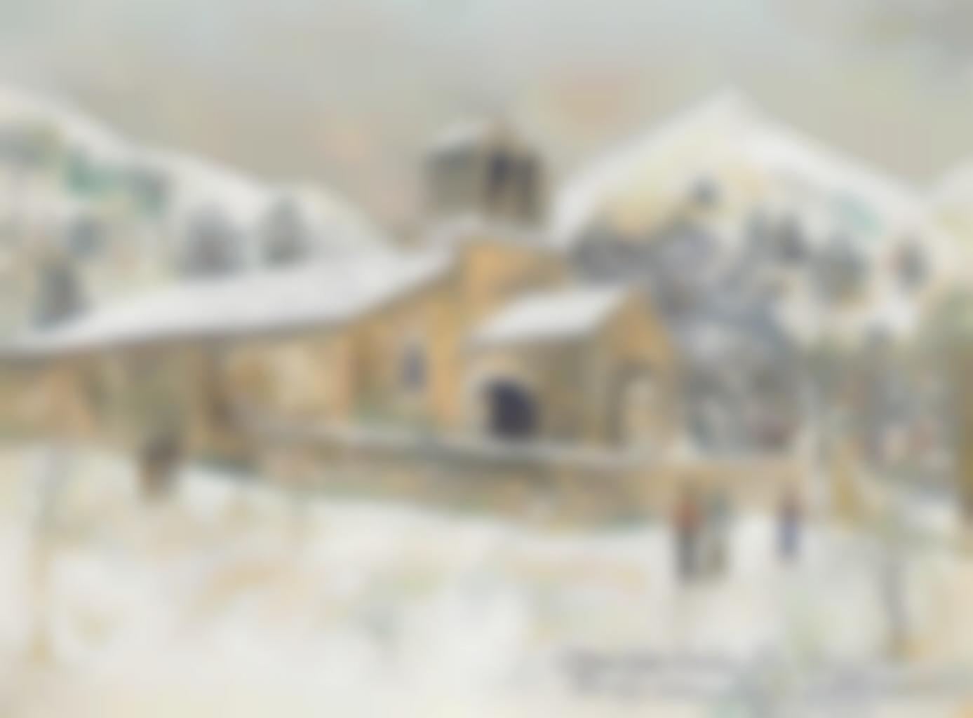 Maurice Utrillo-Eglise de Serre, Luz-Saint-Sauveur (Haute-Pyrenees)-1927