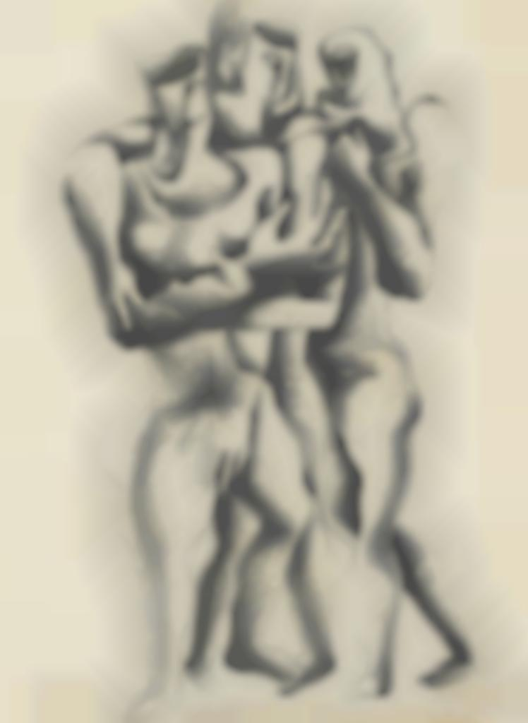 Ossip Zadkine-Trois figures-1947