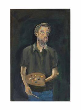 Albert Oehlen-Selbstportrat mit Palette (Self-portrait with Palette)-2005