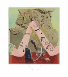 Dana Schutz-QVC (I'm into Minimalist Tatoos)-2008