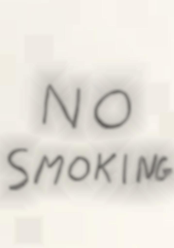 David Shrigley-No Smoking-2016