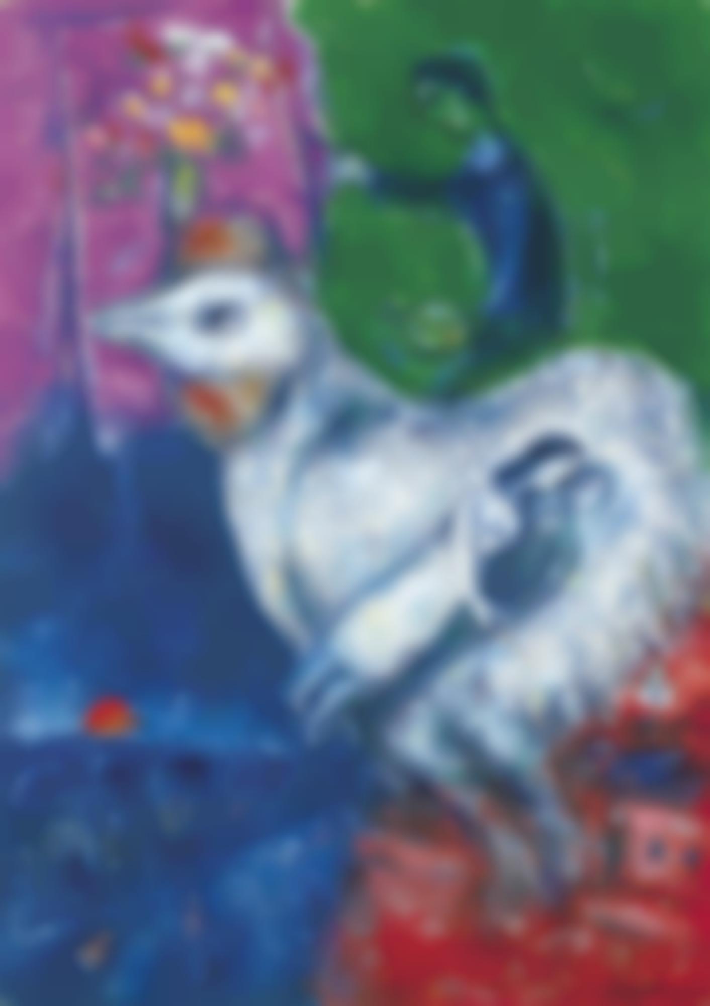 Marc Chagall-Grand Coq Blanc-1980