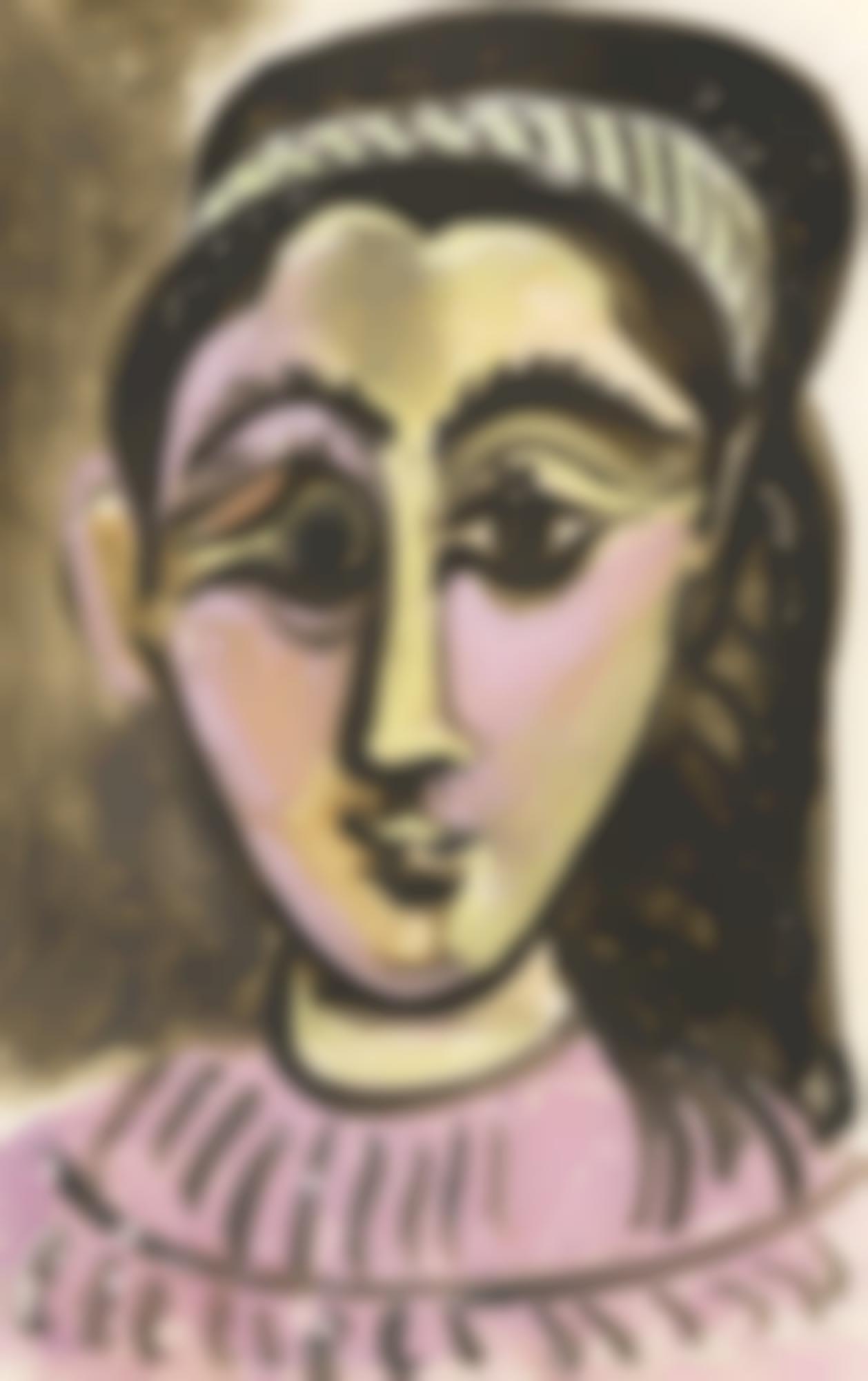 Pablo Picasso-Tete De Femme. Face-1962
