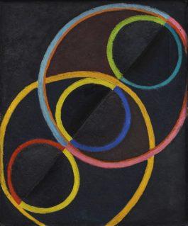 Robert Delaunay-Relief Noir Avec Des Cercles De Couleur-1932