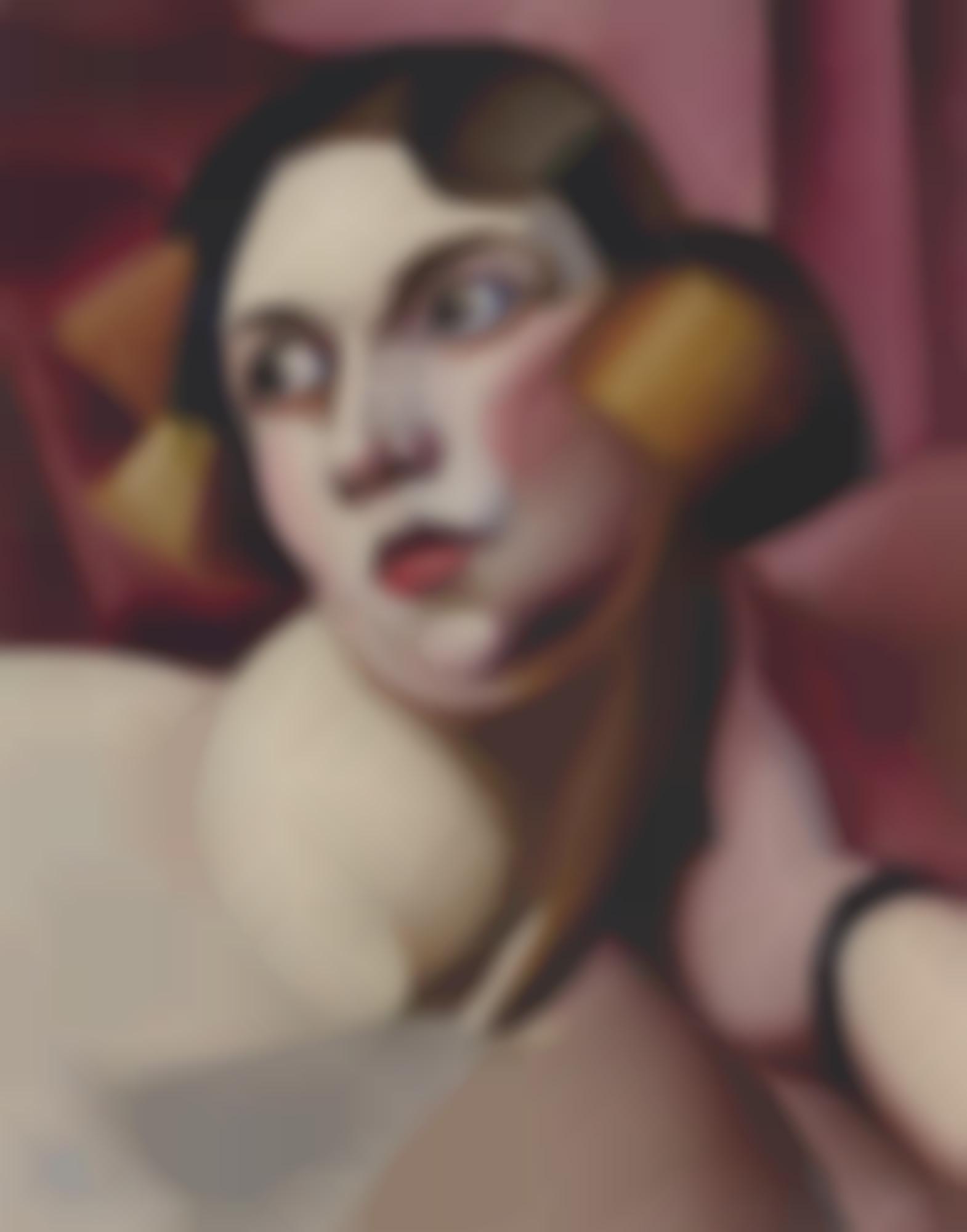 Tamara de Lempicka-Il Fondo Rosa (Portrait De Bibi Zogbe) (Pink Background (Portrait Of Bibi Zogbe))-1923
