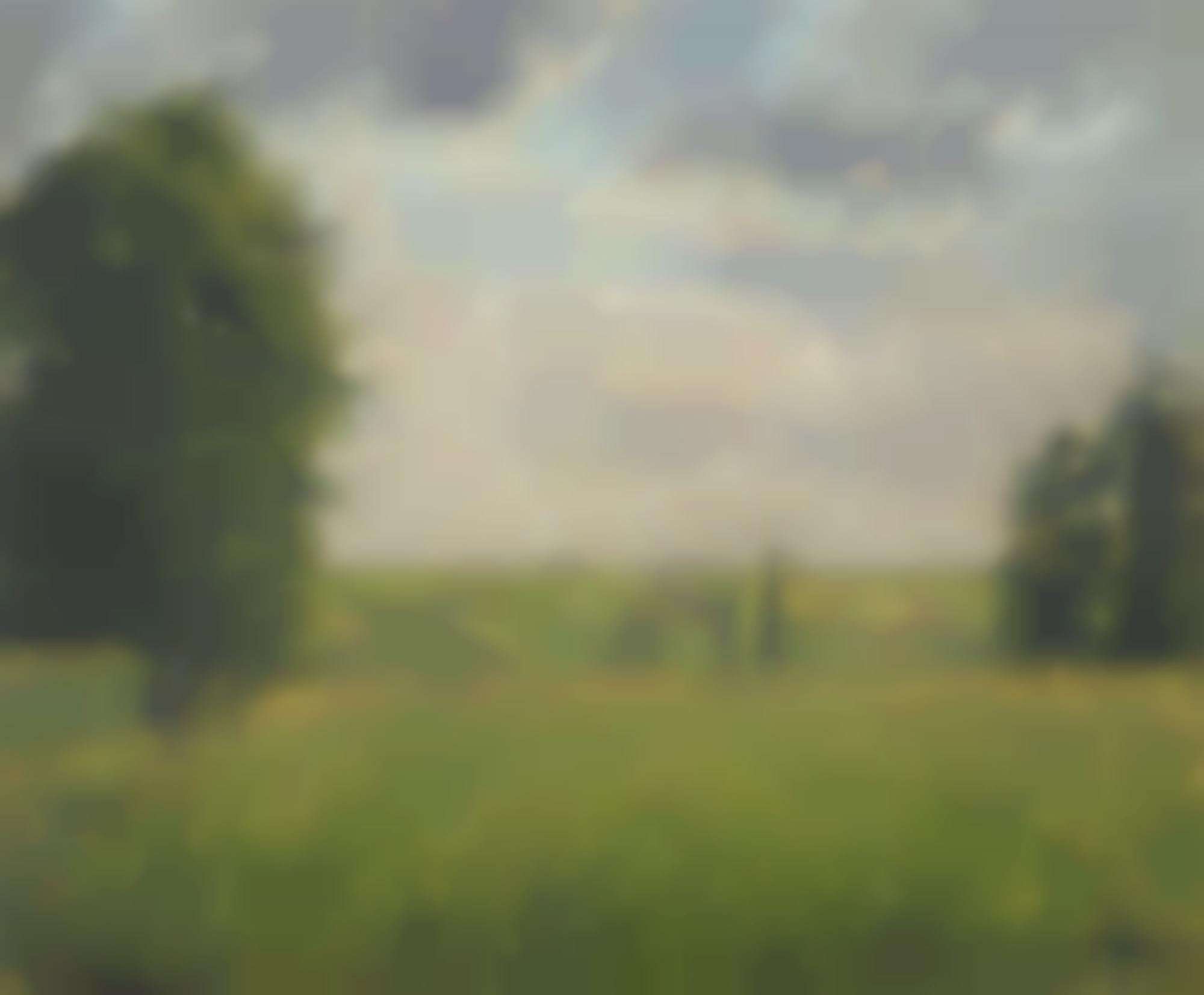 Camille Pissarro-Soleil Couchant, Pontoise-1879