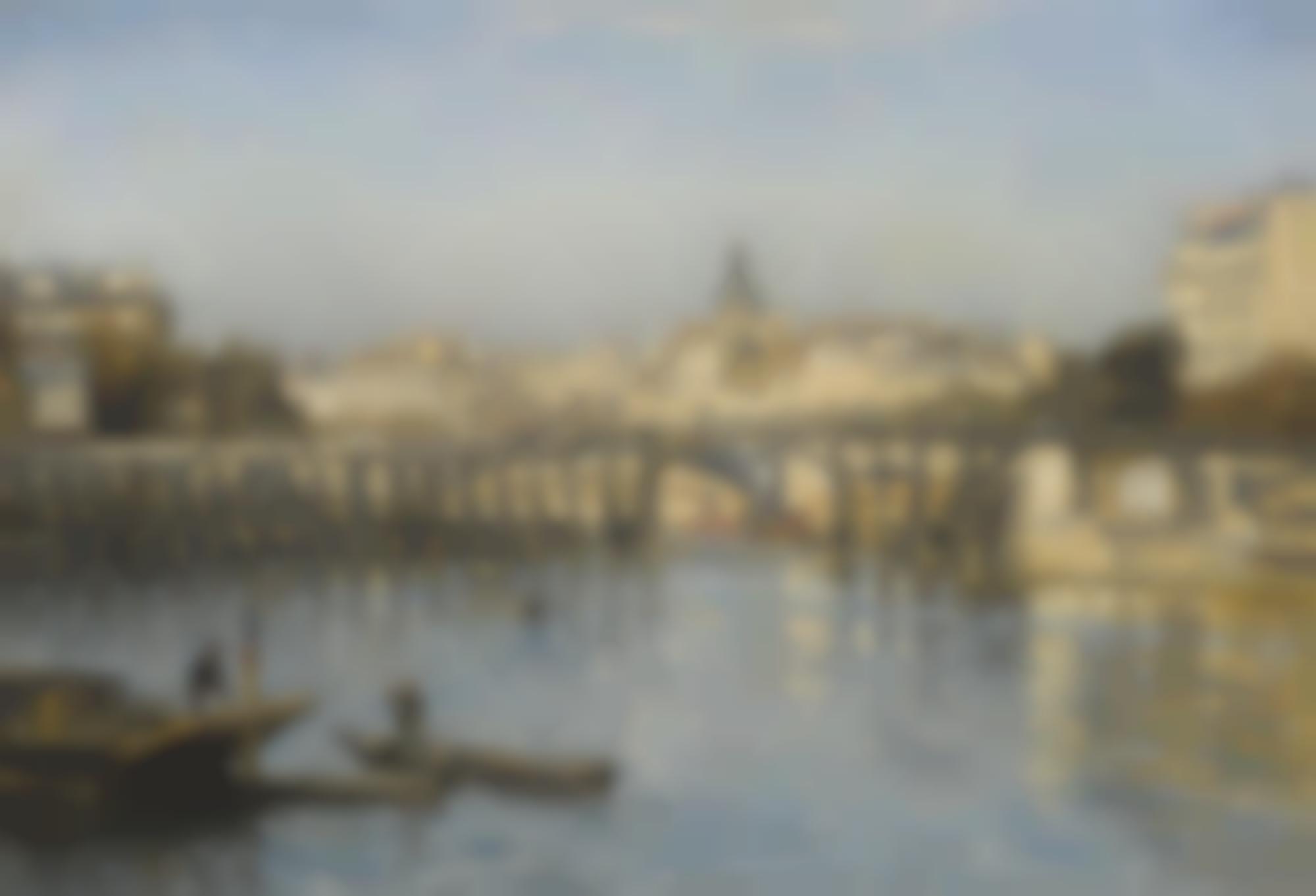 Stanislas Lepine-Paris, La Seine Au Pont De L'Estacade-1880