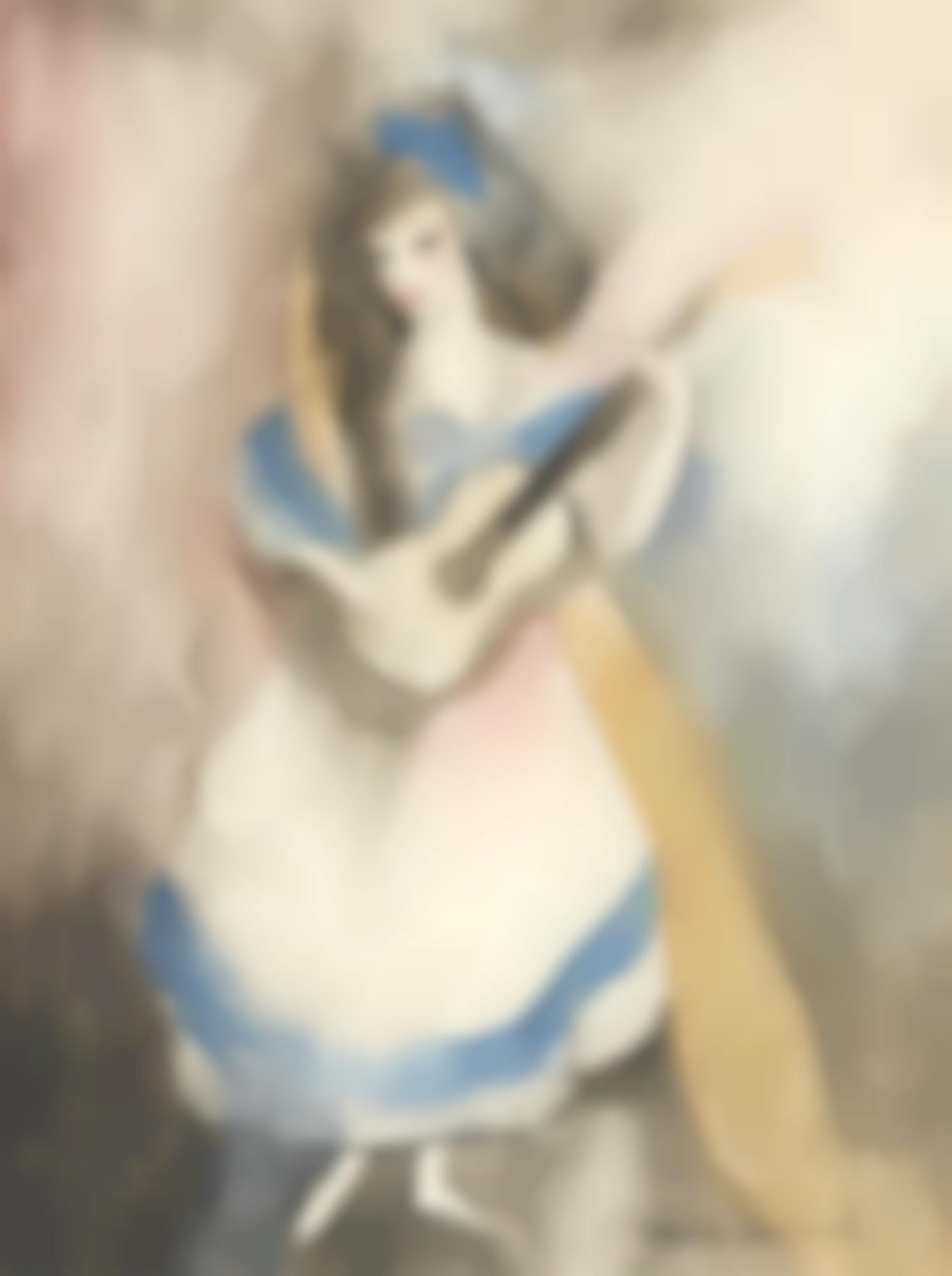 Marie Laurencin-Espagnole A La Guitare-