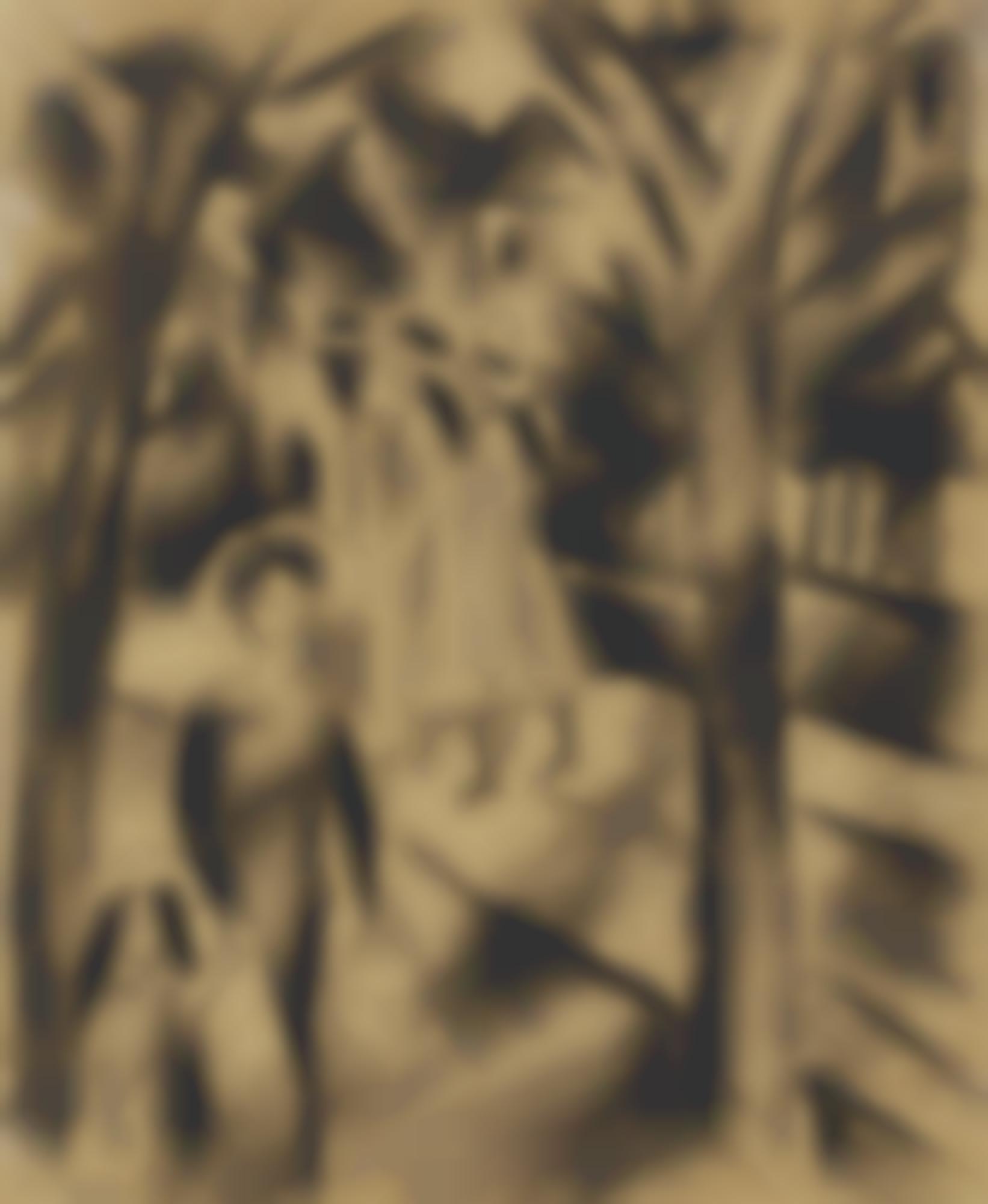 August Macke-Frau Mit Kind Und Madchen Auf Der Strasse (Woman With Child And Girls On The Street)-1913