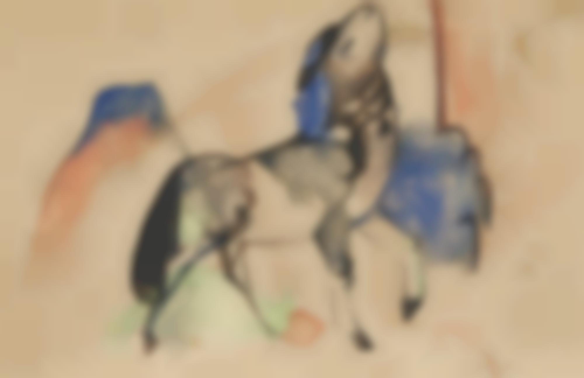 Franz Marc-Kleines Fabeltier II (Small Fabulous Beast II)-1912