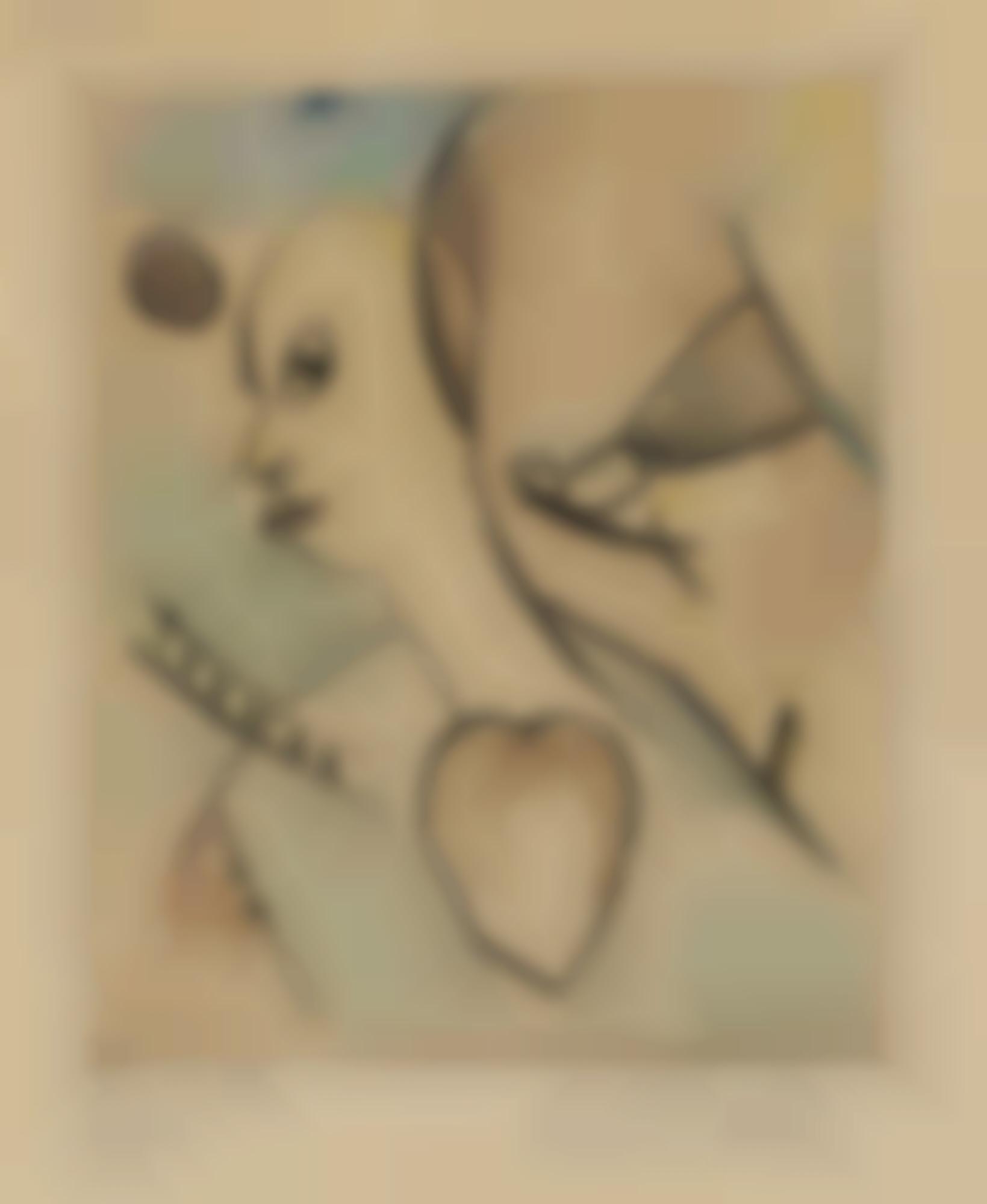 Kurt Schwitters-Der Mann Mit Das Grosse Herz (The Man With The Big Heart)-1919