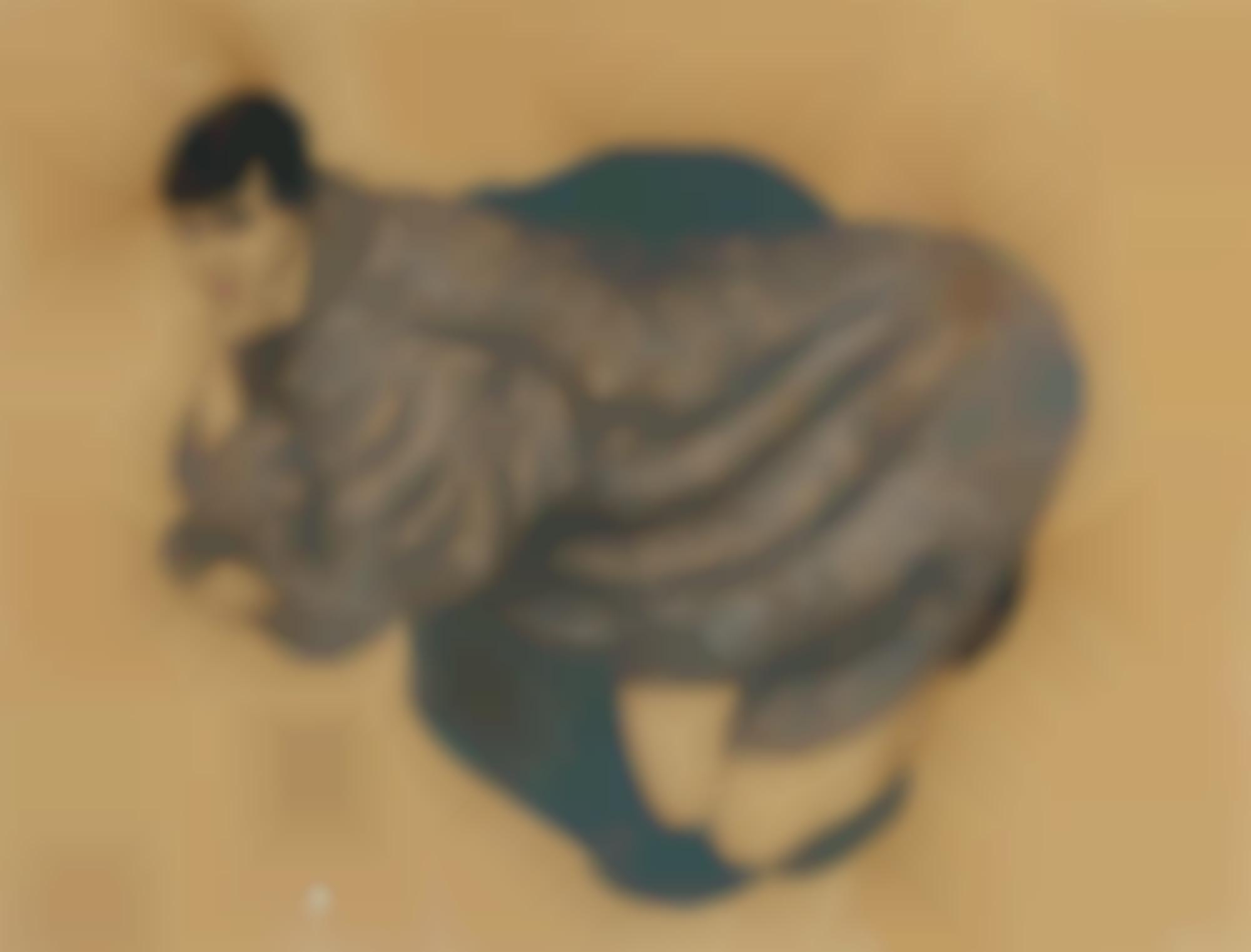 Alfons Walde-Dame Im Pelz (Lady In Fur)-1921