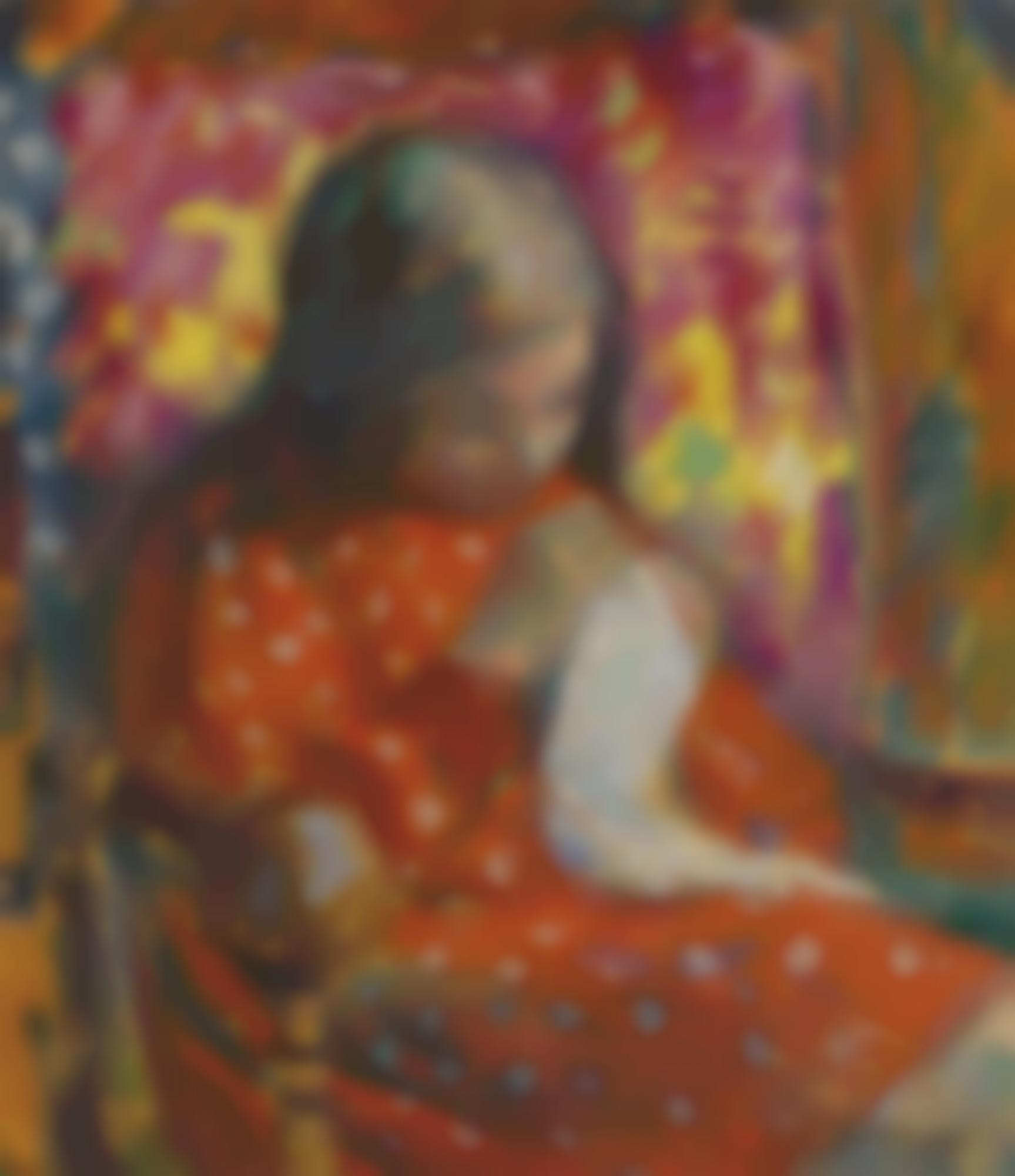Henri Lebasque-Jeune Fille Cousant-1906