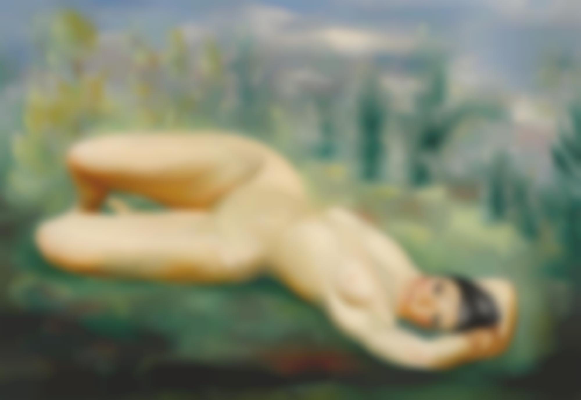 Moise Kisling-Nu Dans L'Herbe-1932
