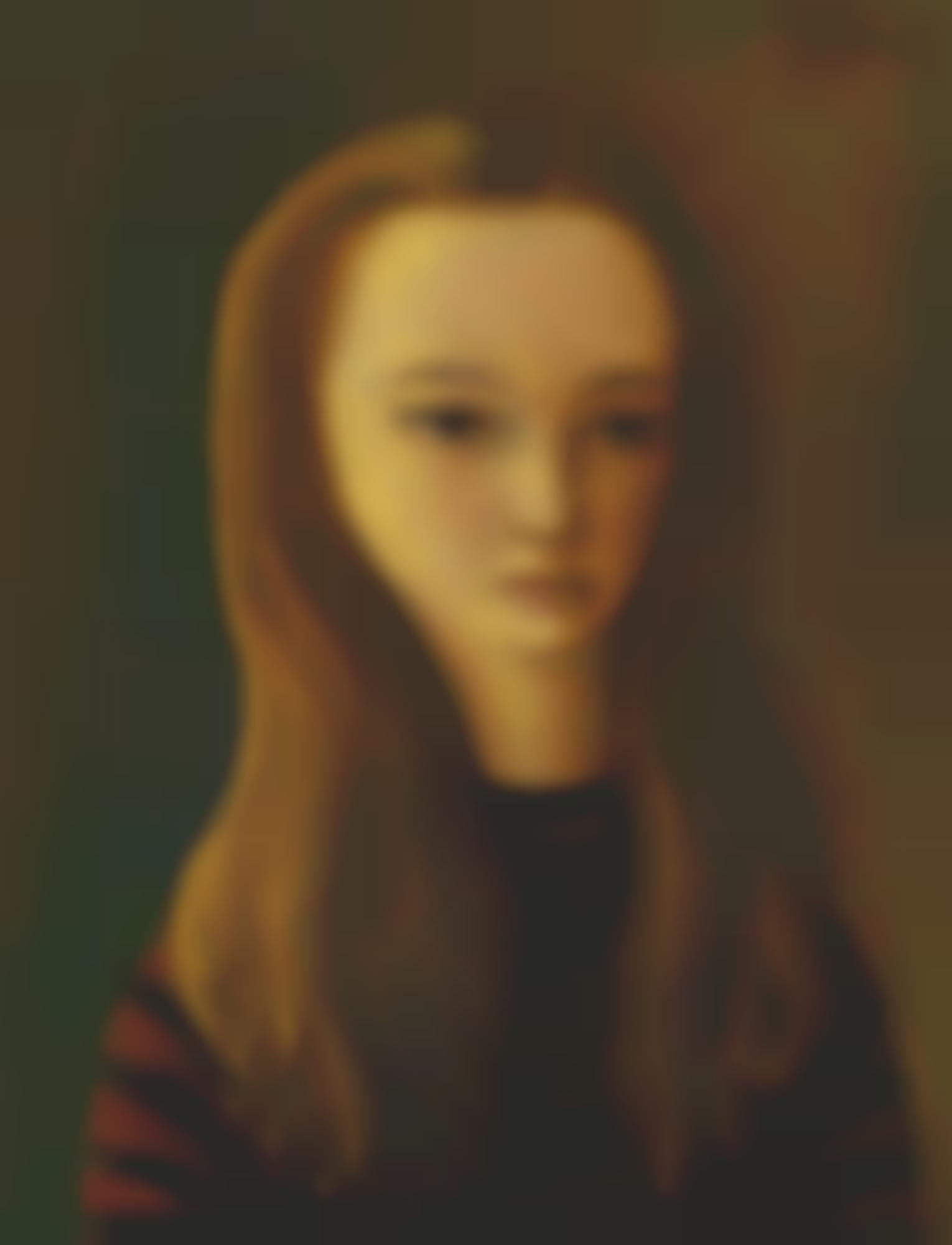 Moise Kisling-Jeune Fille Aux Longs Cheveux-