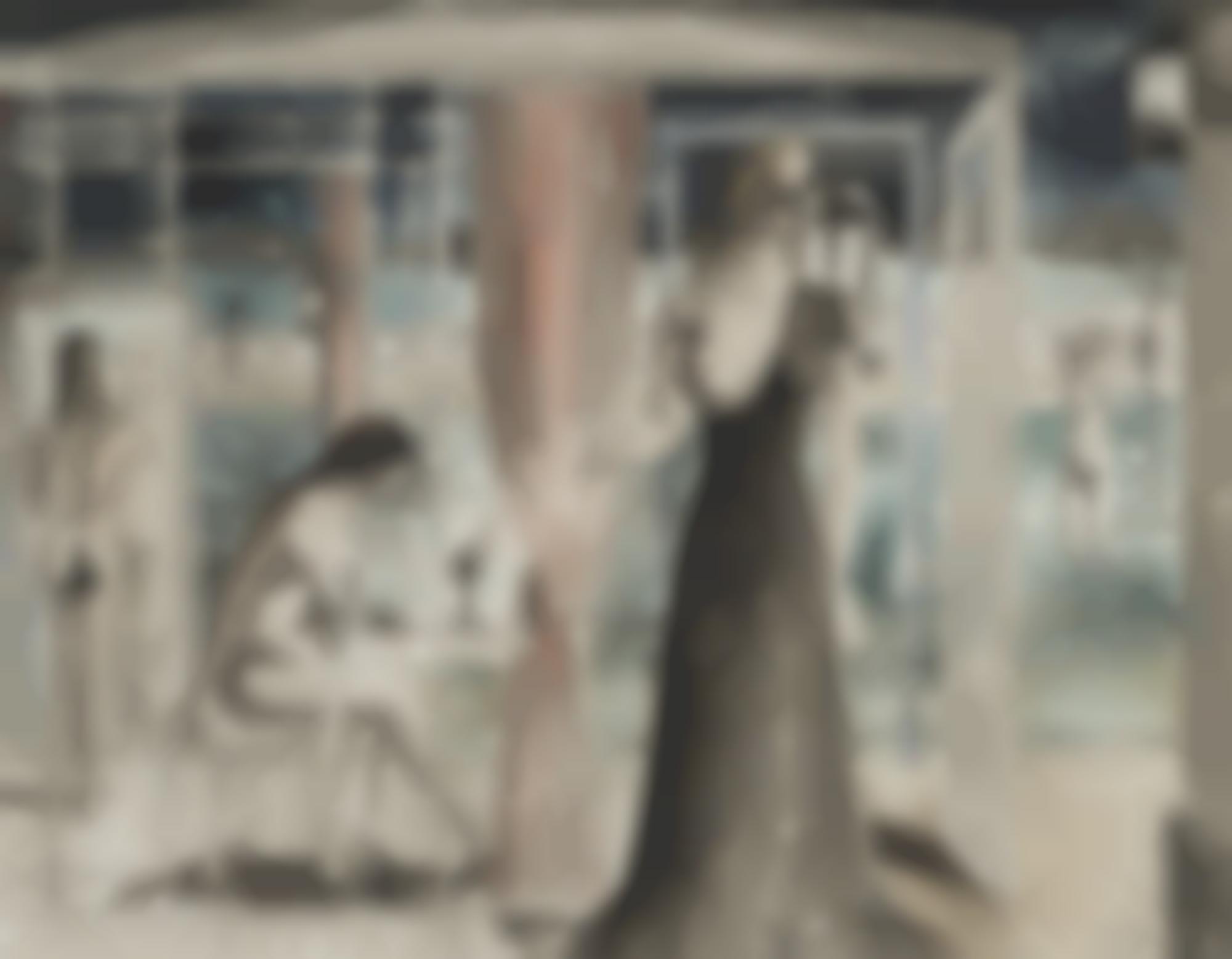 Paul Delvaux-Etude Pour Filles Au Bord De L'Eau-1966
