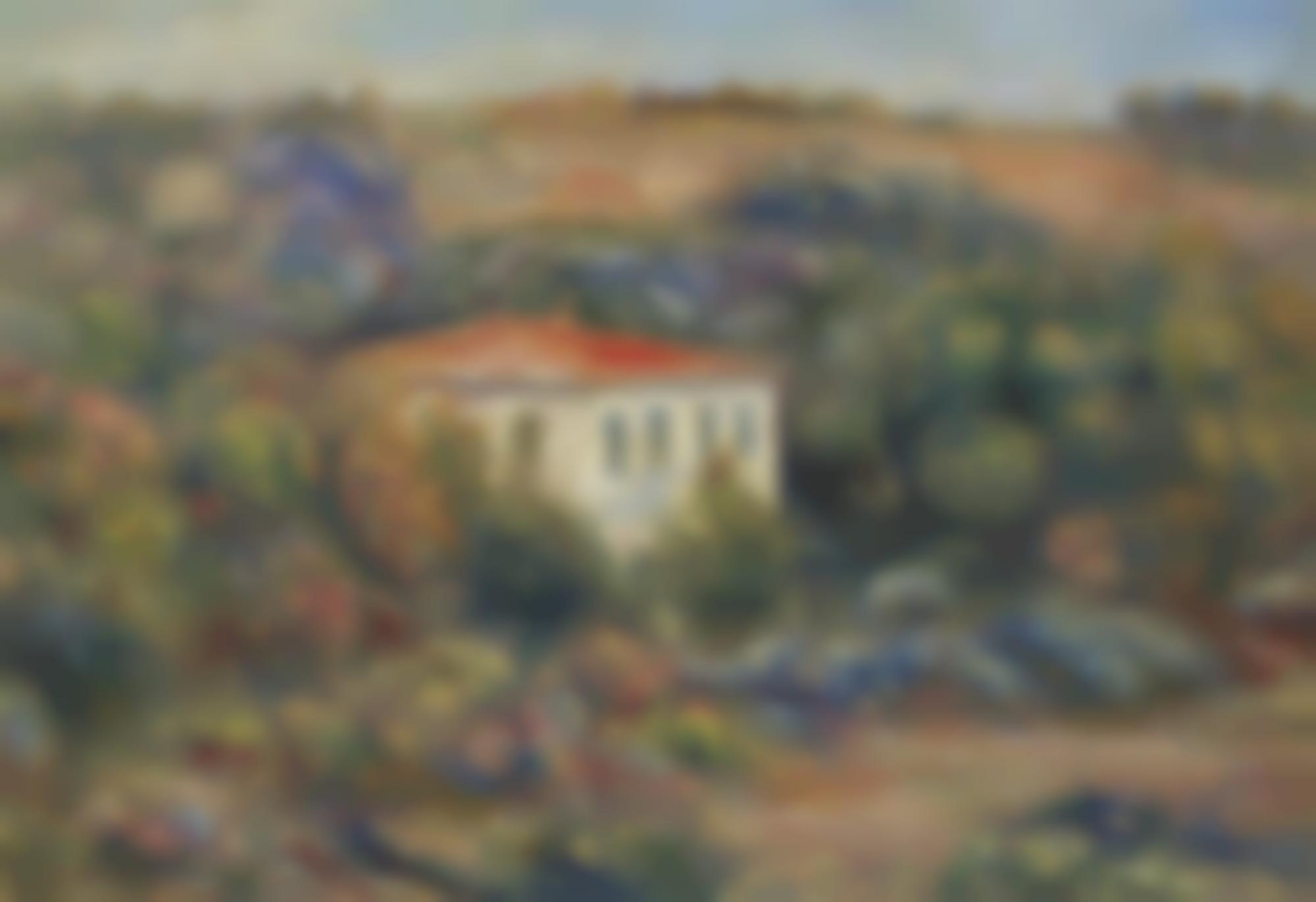 Pierre-Auguste Renoir-Maison Dans Un Paysage-1910