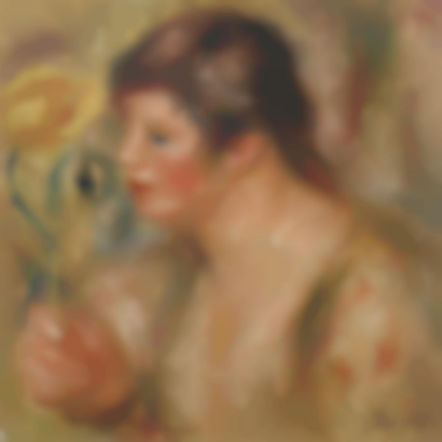 Pierre-Auguste Renoir-Femme A La Rose-1919