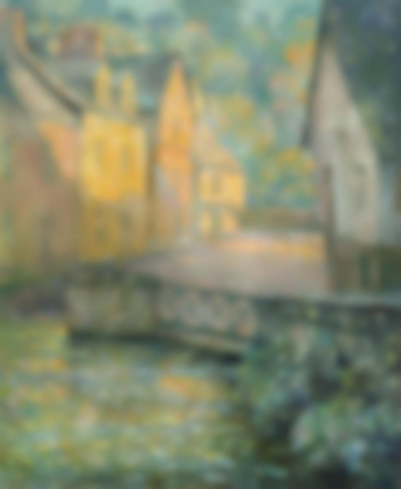 Henri Eugene Le Sidaner-Matin dore-1920