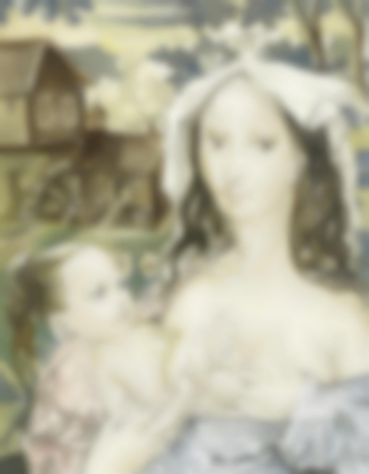 Tsuguharu Foujita-La mere et l'enfant-1958