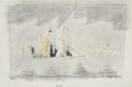 Lyonel Feininger-Becalmed-1943