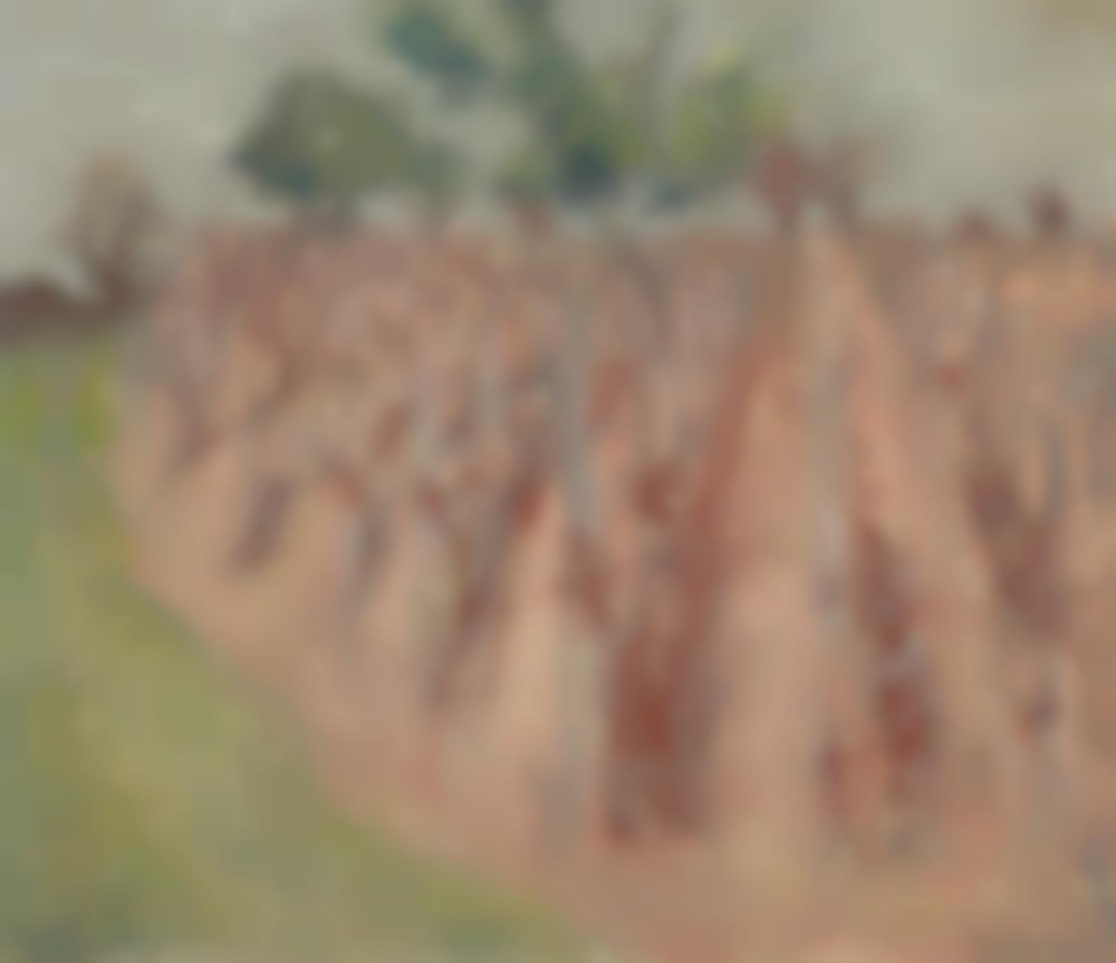 Edouard Vuillard-La vigne a Villeneuve-sur-Yonne-1897