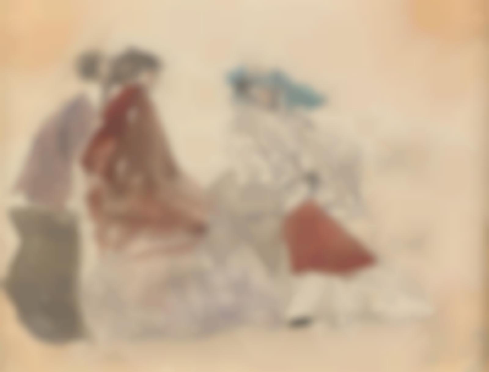 Eugene Louis Boudin-Scene de plage-1863