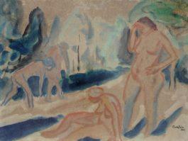 Max Pechstein-Stehende und sitzende Akte-1911