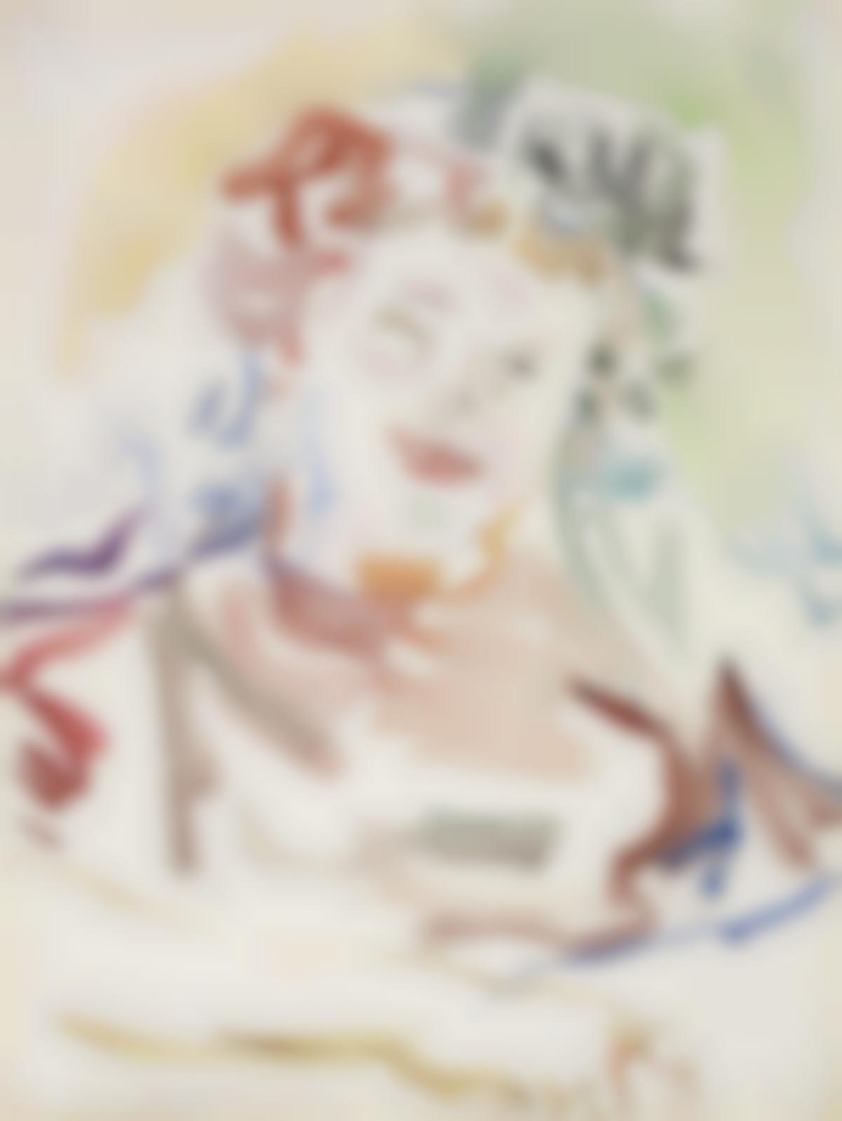 Oskar Kokoschka-Portrait einer Dame-1946