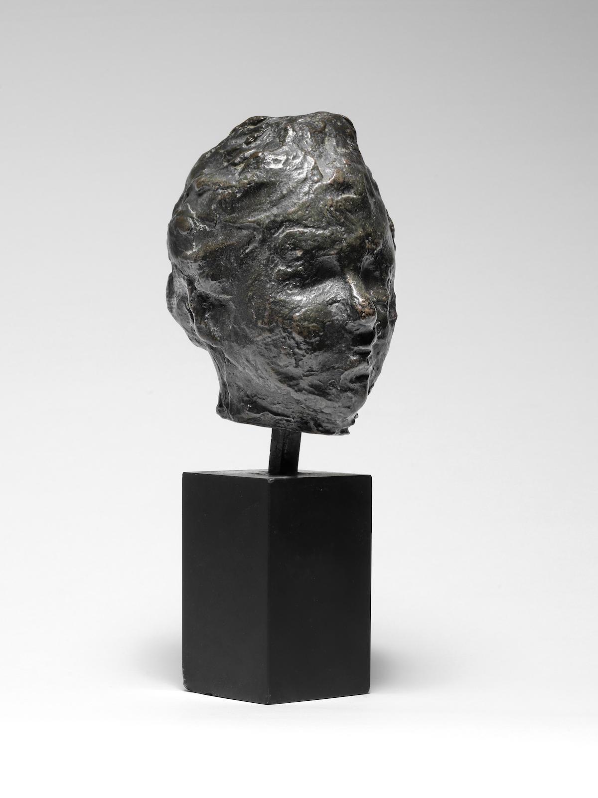 Edgar Degas-Tete, petite etude pour le portrait de Madame S.-1937