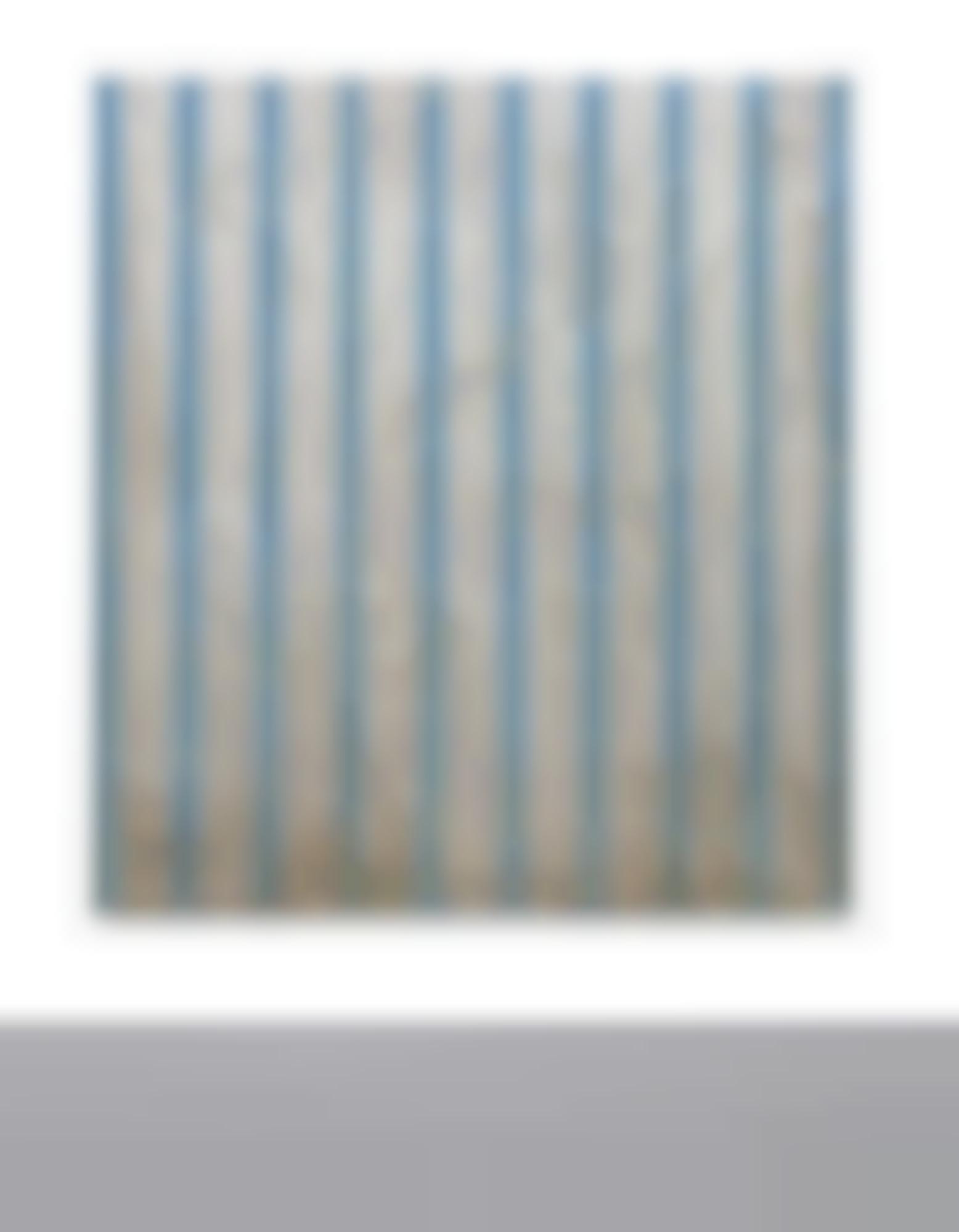 Fredrik Vaerslev-Untitled (Canopy Painting: Blue)-2012