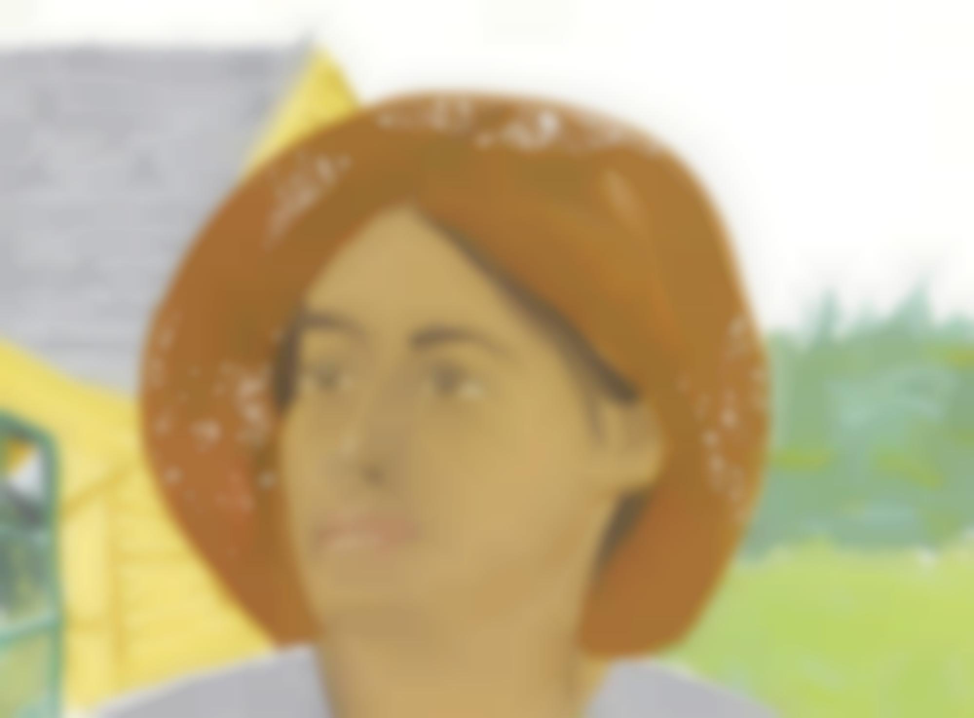Alex Katz-Orange Hat 2-1973