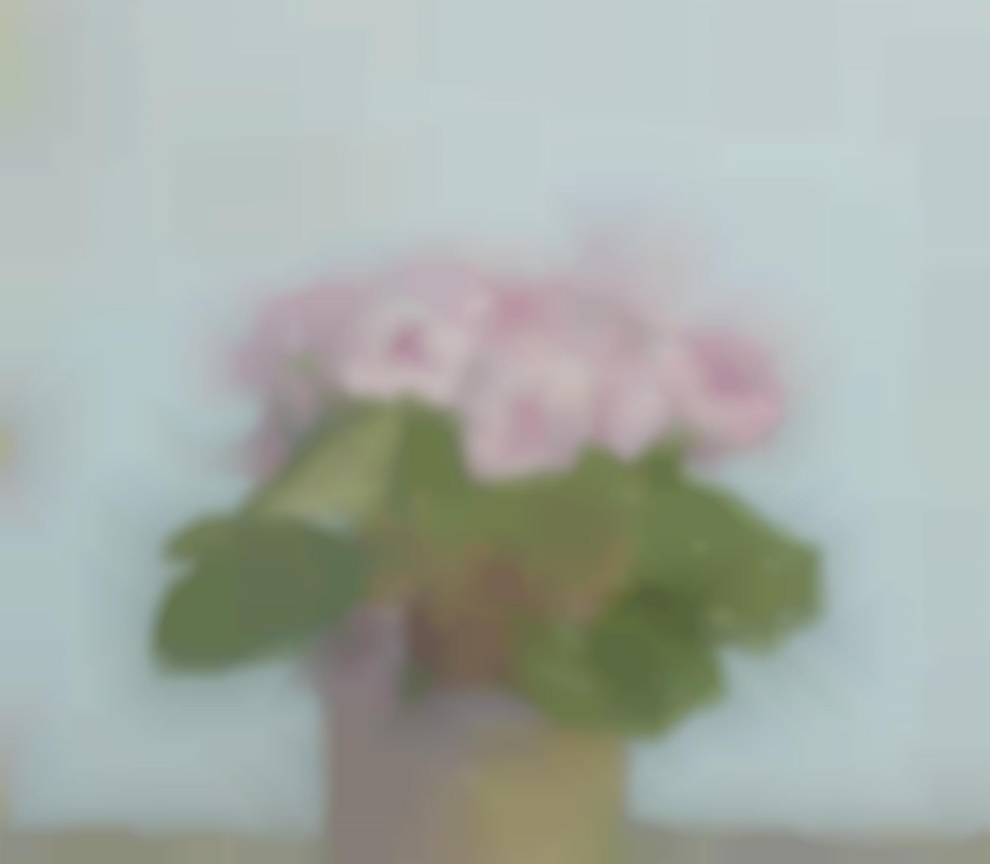 Albert York-Potted Plant With Pink Flowers-1988
