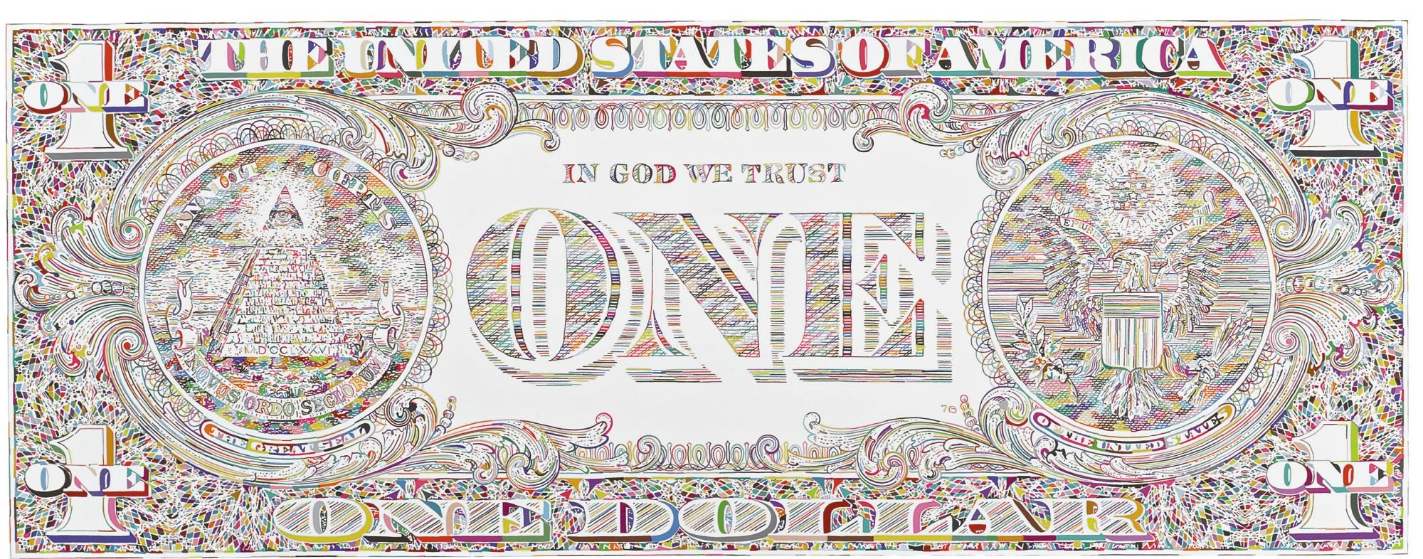 Tom Friedman-Untitled (Dollar Print, Back)-2011
