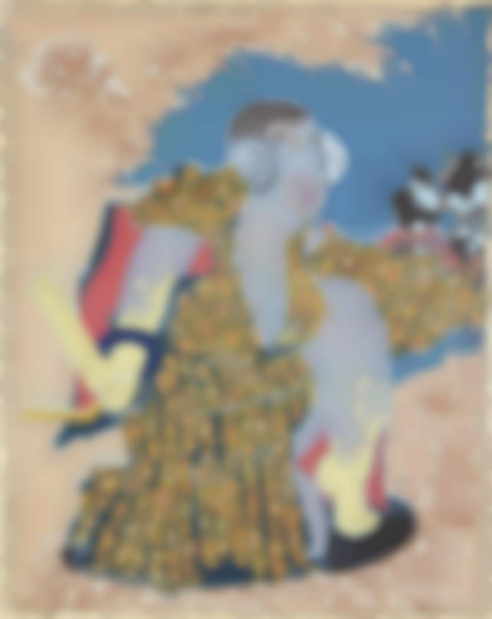 Iona Rozeal Brown-Whoshi: The Sender (After Yoshitoshi'S 'The Ghost Of Taira No Tomomori Appears At Diamotsu Bay')-2008