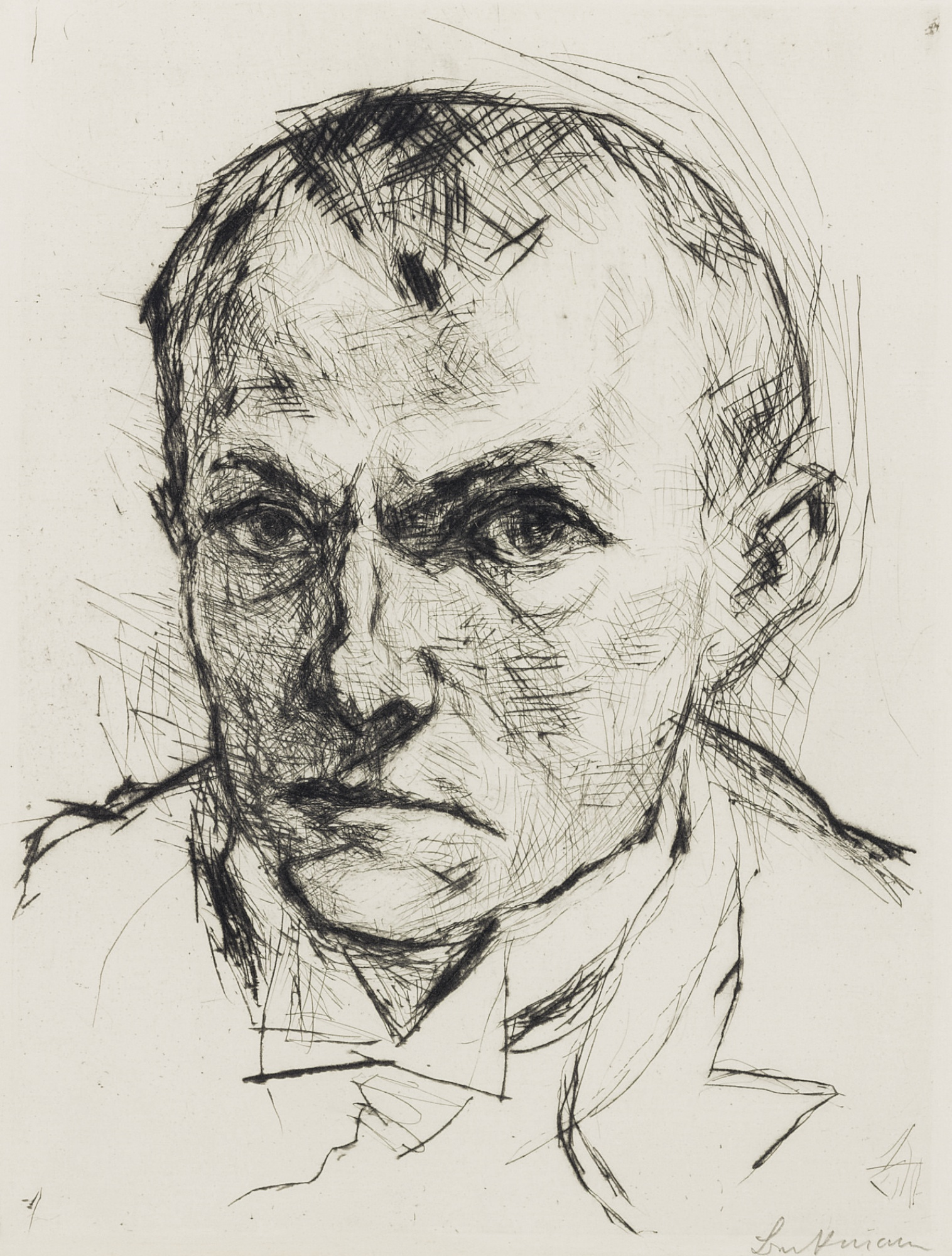 Max Beckmann-Self Portrait-1914