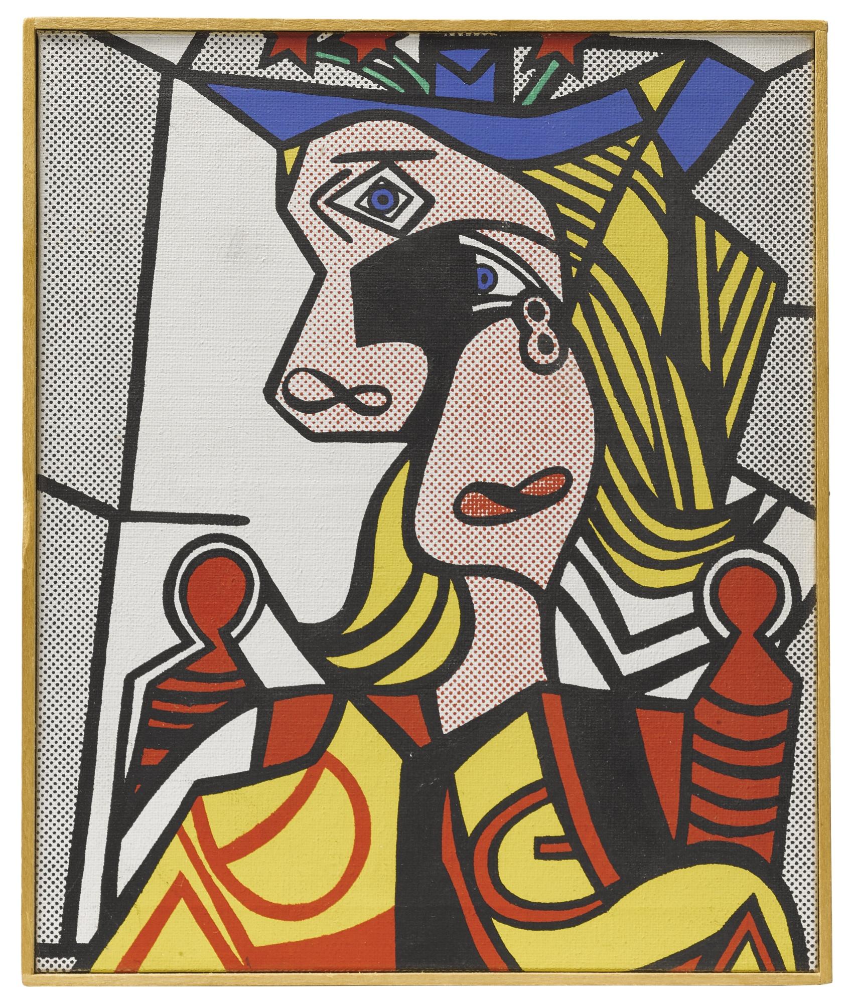 Richard Pettibone-Roy Lichtenstein, Woman With Flowered Hat, 1968-1970