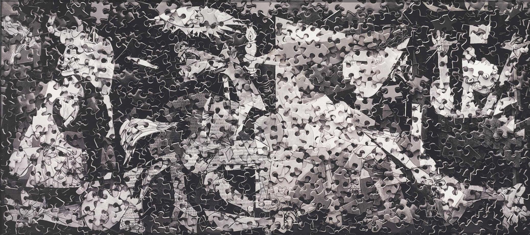 Vik Muniz-Guernica after Pablo Picasso (Gordian Puzzles)-2009