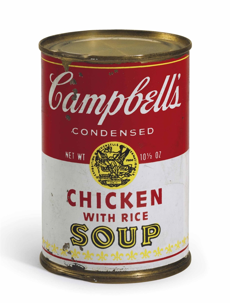 Andy Warhol-Campbell's Soup Can (Chicken with Rice)-1966