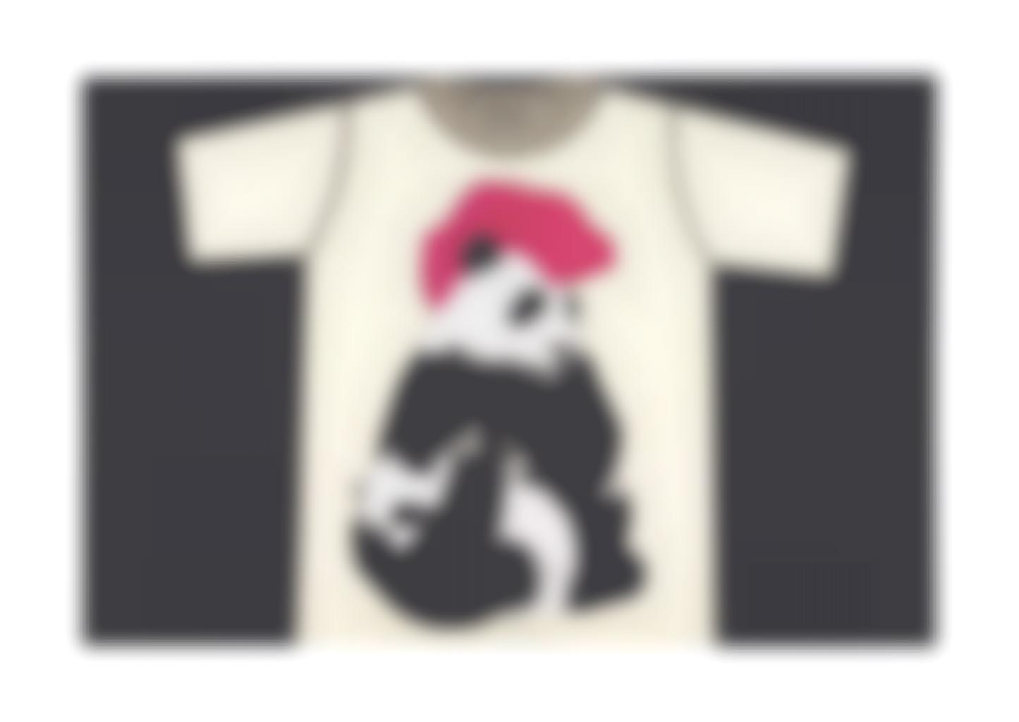 Rob Pruitt-Panda T-Shirt: Madonna with a Mohawk and Child-2011