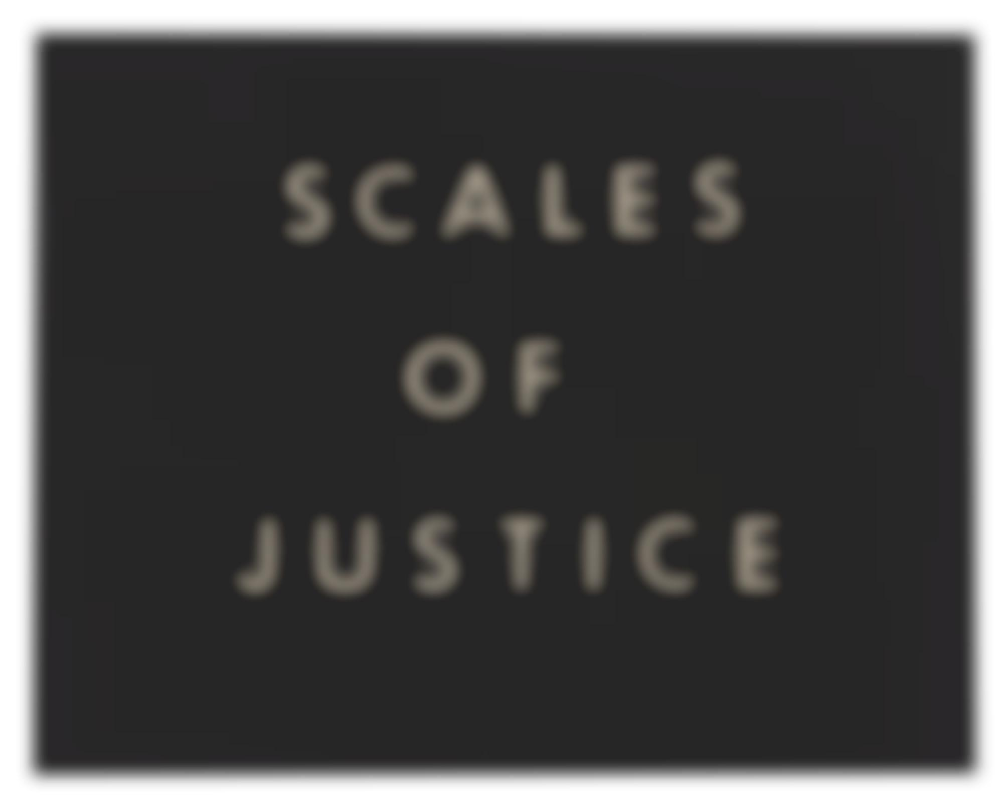 Ed Ruscha-Scales Of Justice-1975