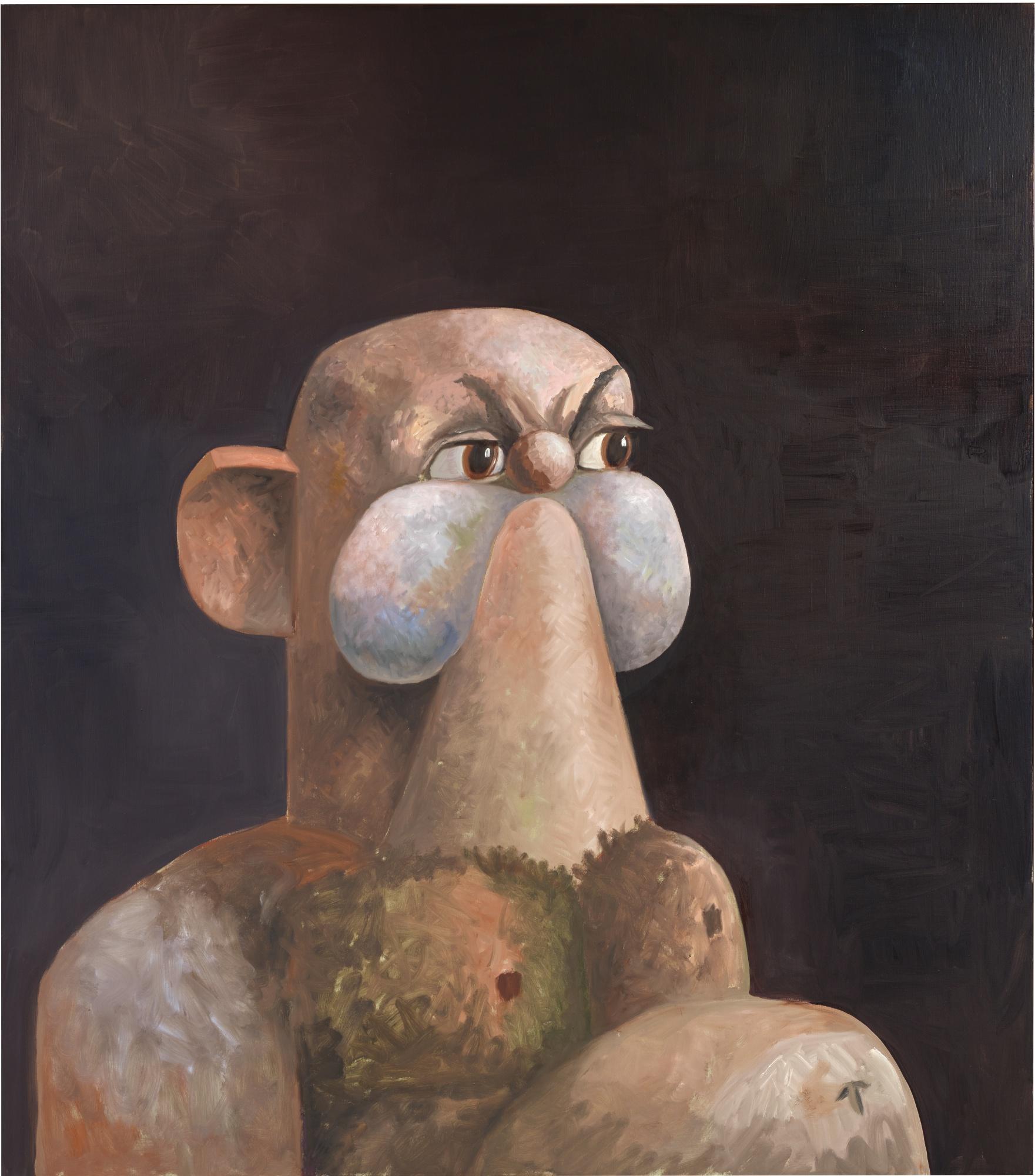 George Condo-The Rock-2010
