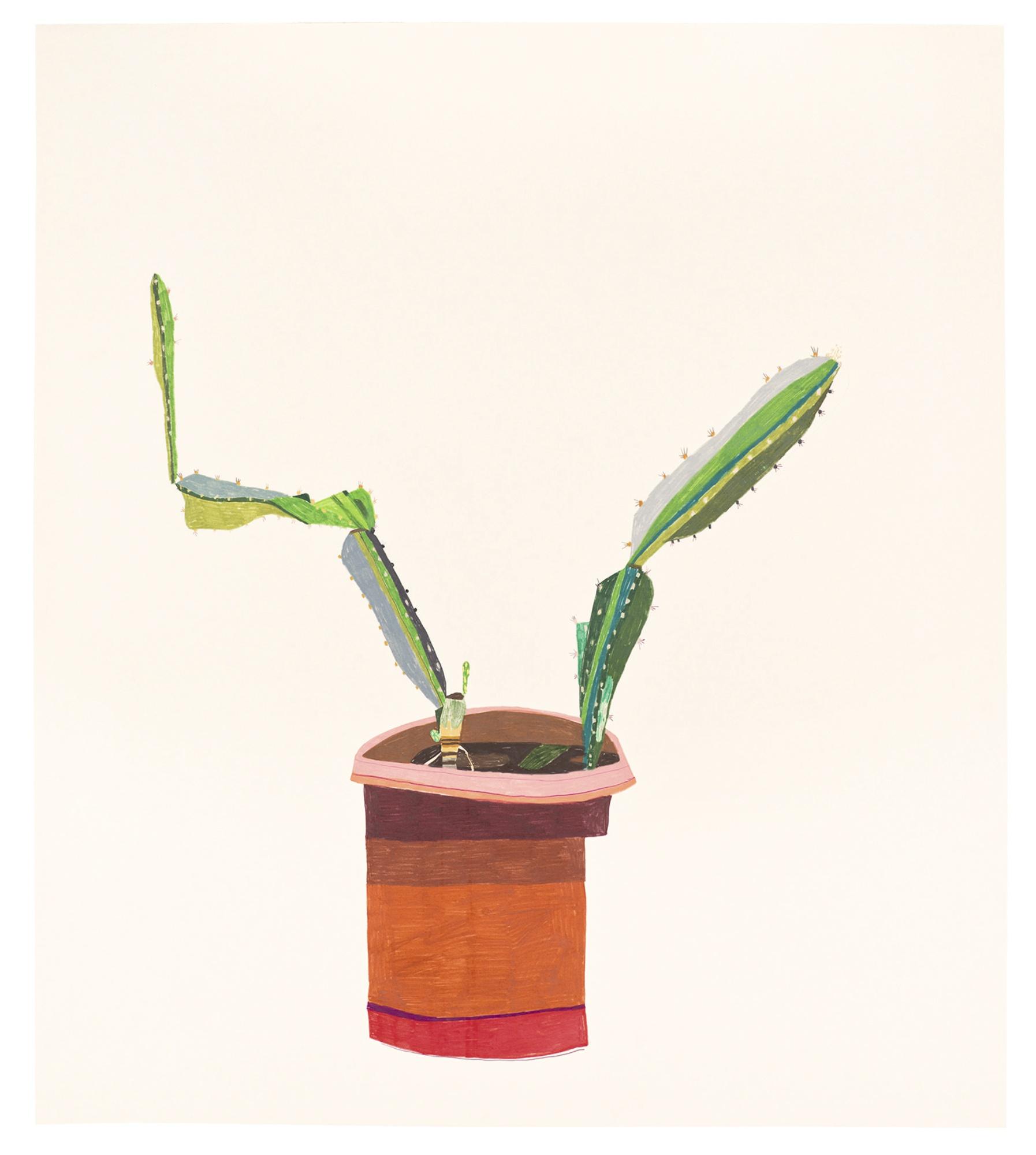 Jonas Wood-Cactus In A Pot-2009
