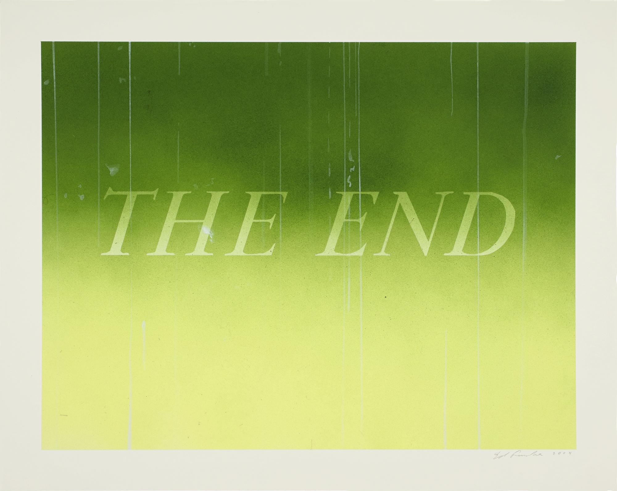 Ed Ruscha-The End #46-2004