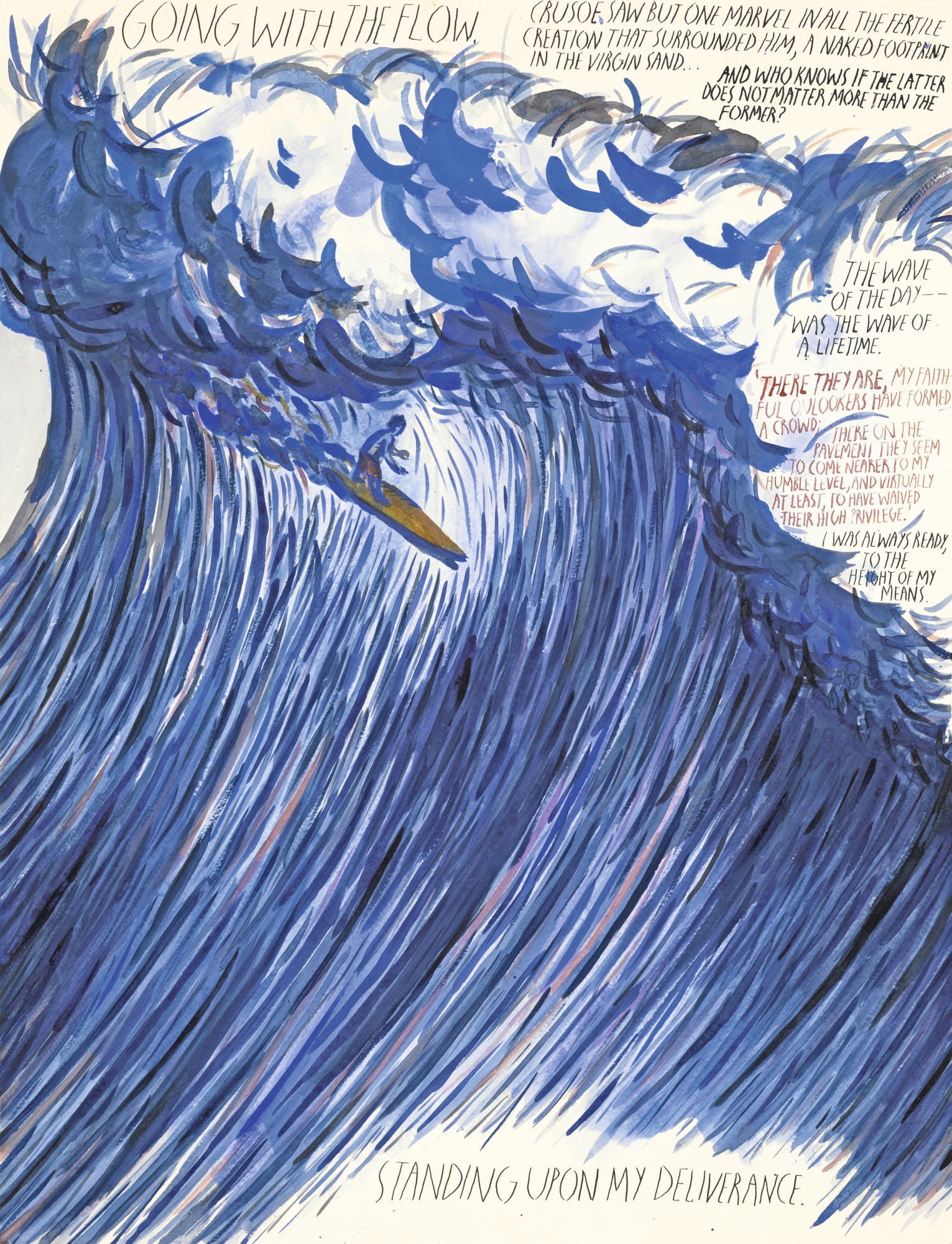 Raymond Pettibon-Untitled (Going With The Flow...)-2000