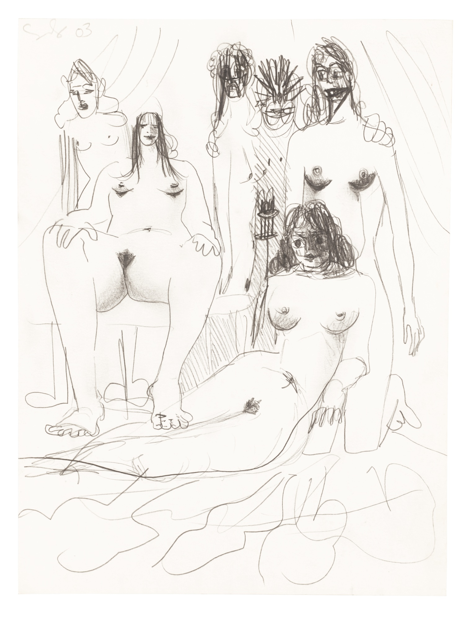 George Condo-Orgy Composition-2003