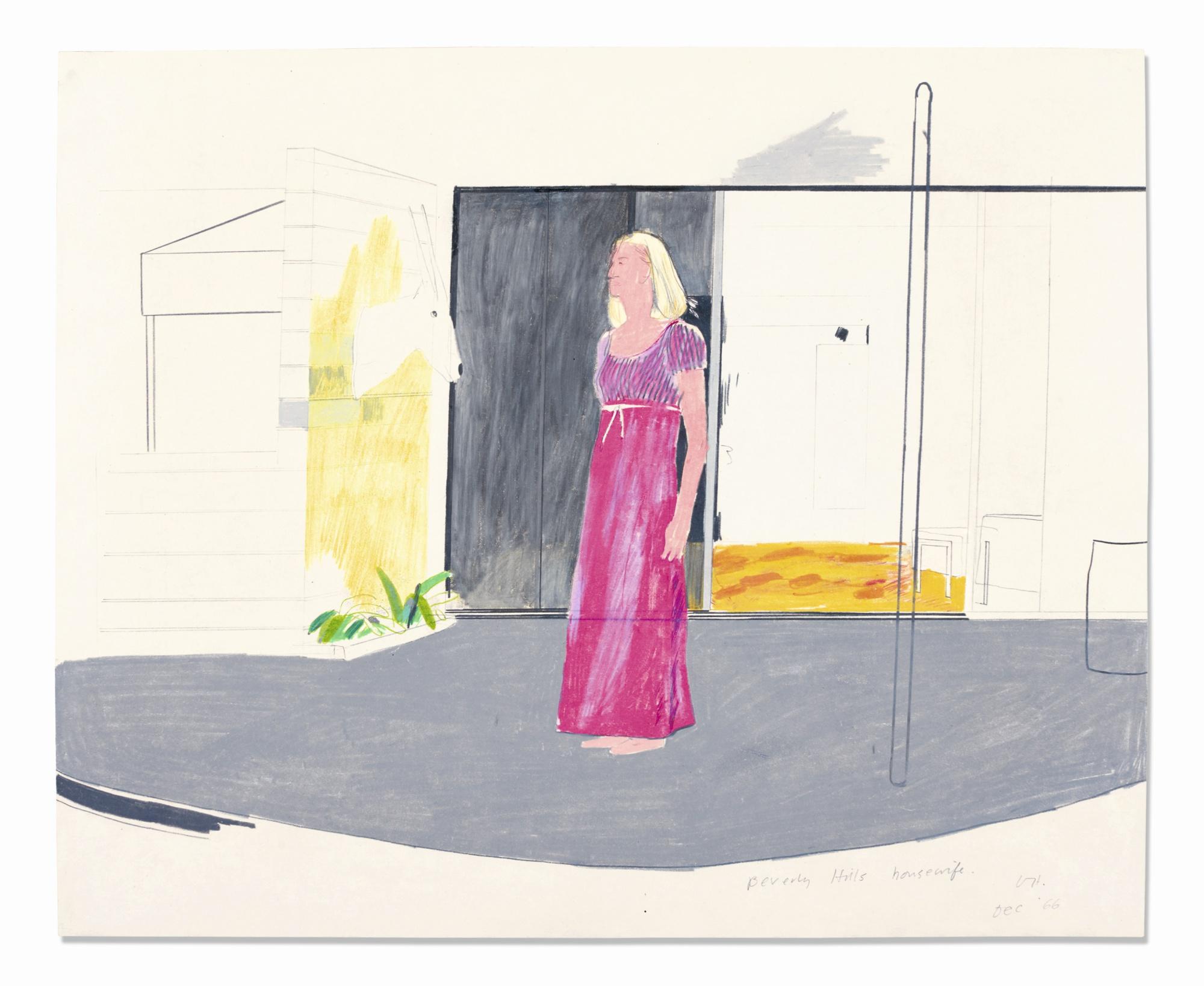 David Hockney-Beverly Hills Housewife-1966