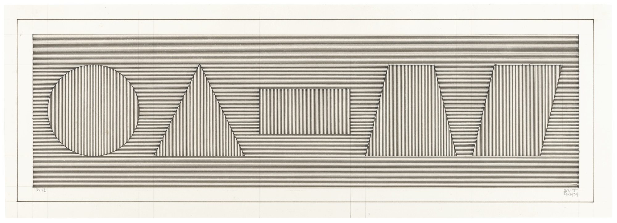 Sol LeWitt-Six Geometric Figures (13456)-1979